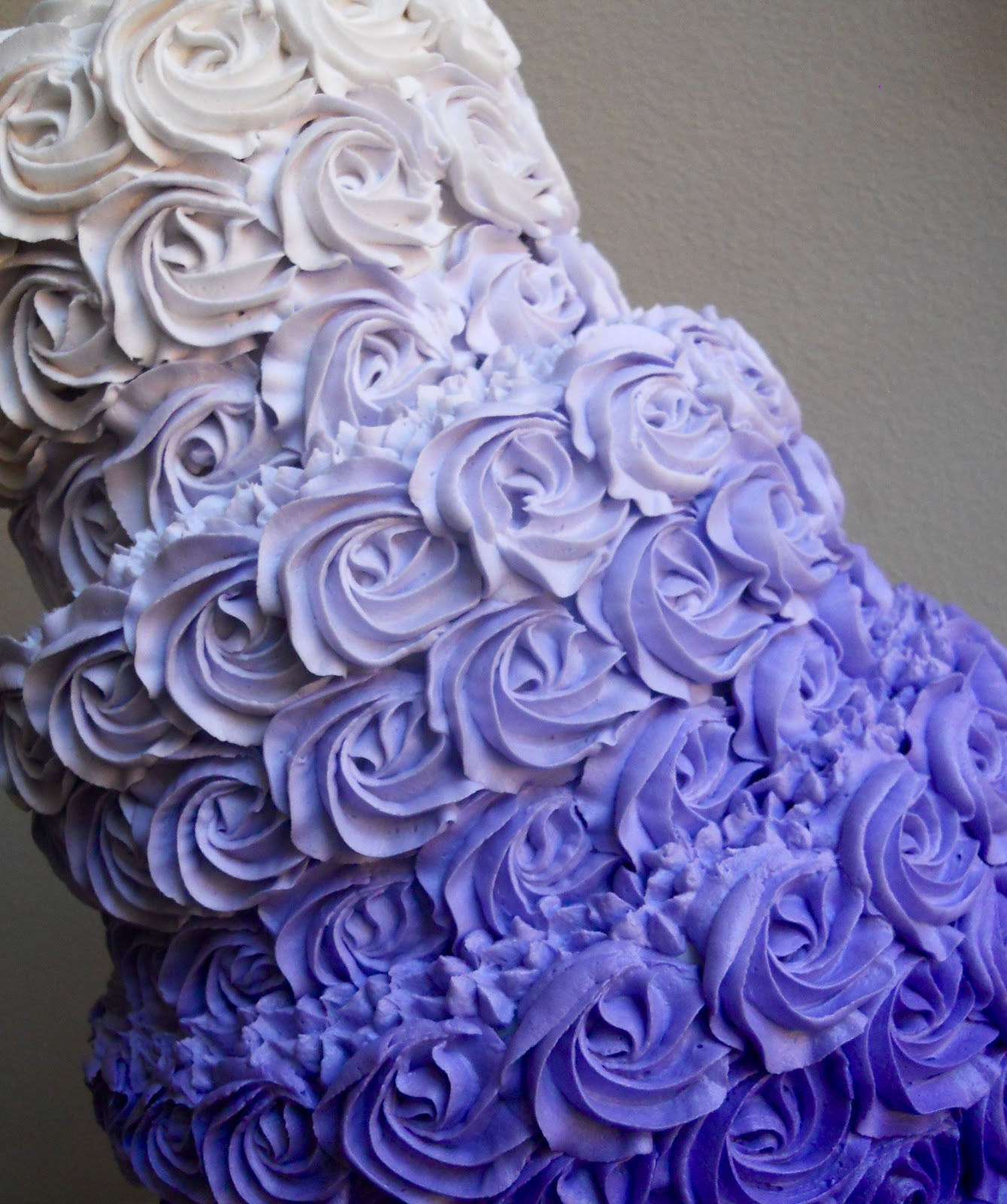 Oh Sugar Events Purple Ombre Rose Cake