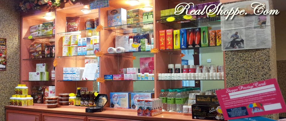 LEBIH 100 PRODUK KESIHATAN DI KEDAI KAMI. LAWAT REALSHOPPE.COM