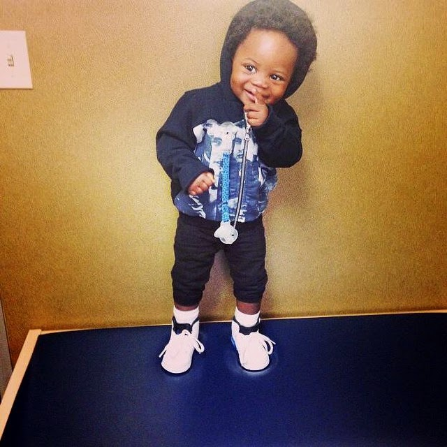 Check Out Pics of Obafemi Martins' Adorable Son