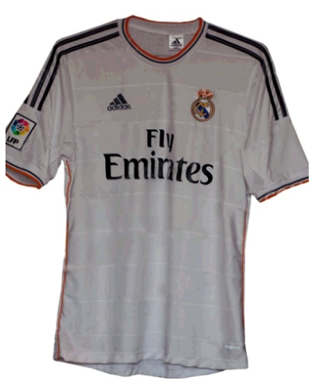 New Real Madrid shirt for 2013-2014 season with Fly Emirates as
