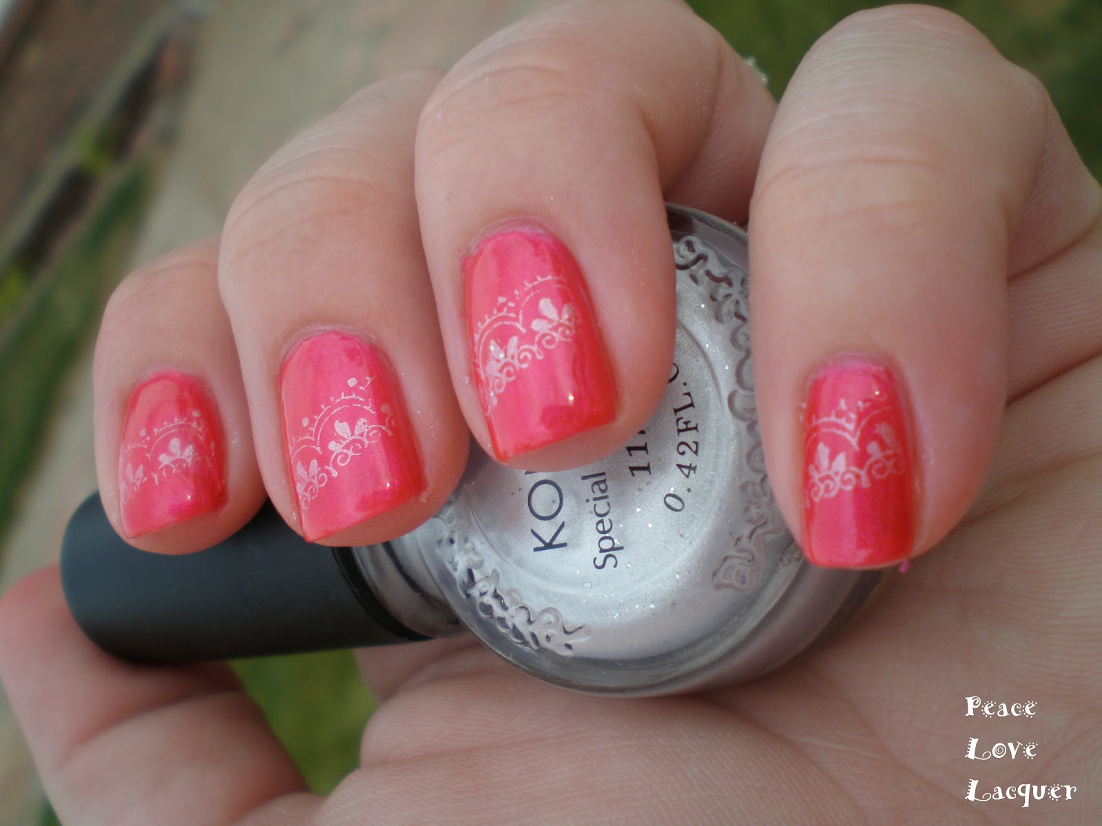 Peace Love Lacquer: 31 Day Nail Art Challenge: Day 15 - Delicate Print