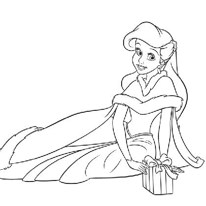 Coloriage princesse disney ariel - Jeux de ariel et son prince ...