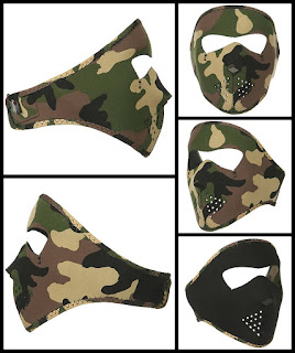 Youth Camo Neoprene Face Mask