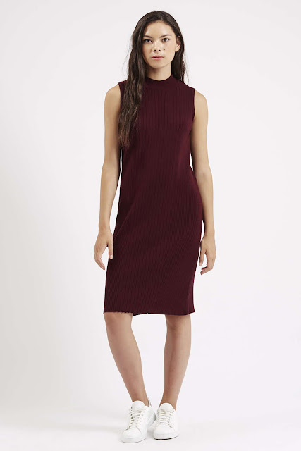 burgundy vest dress, burgundy ribbed dress,