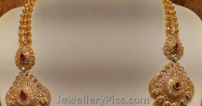 Traditional Chandra Haram With Gold Dd Balls Latest