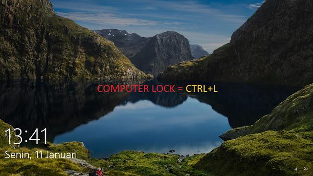 cara lock komputer atau laptop
