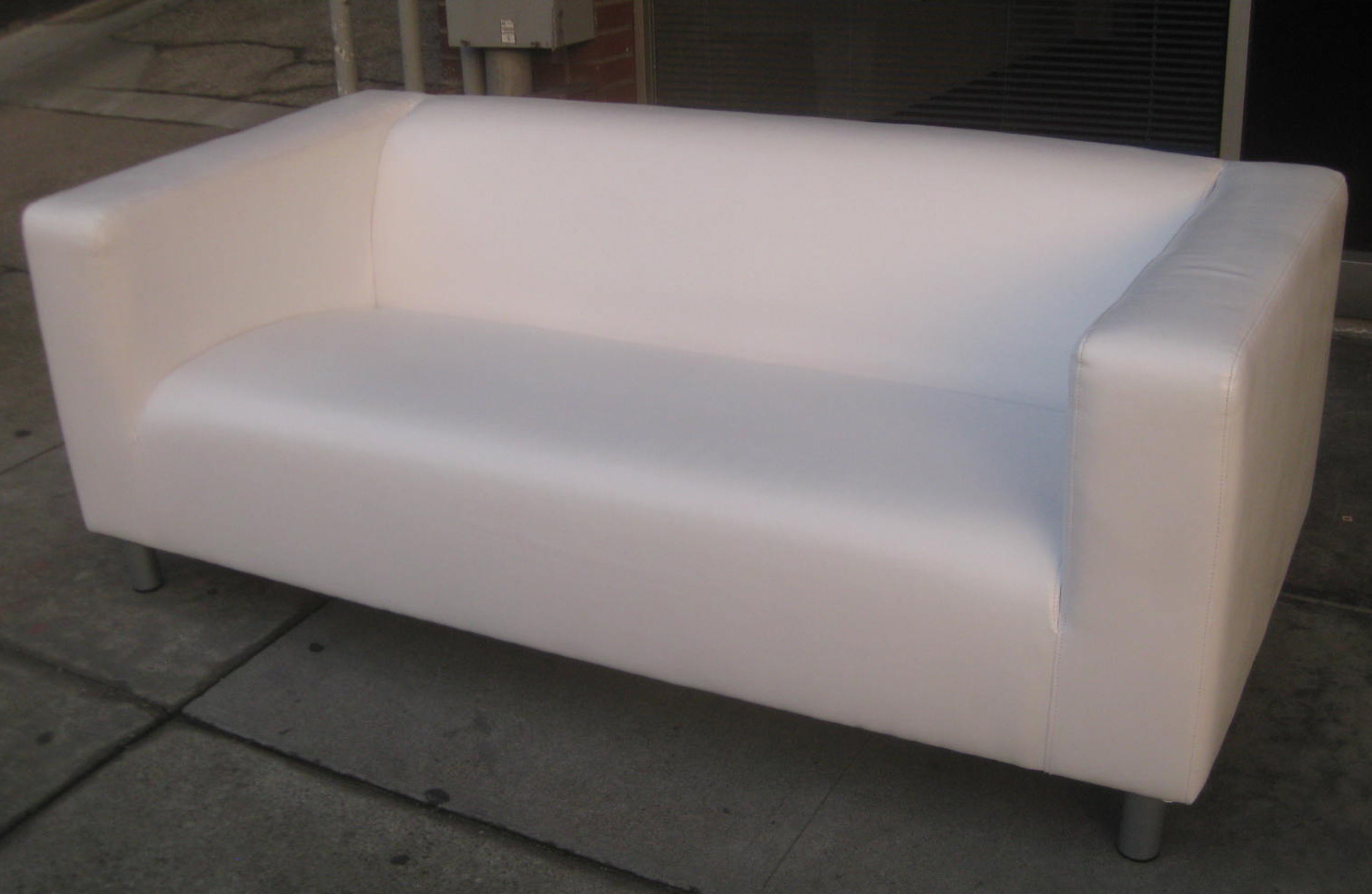 Sold Ikea Klippan White Leather Sofa 200