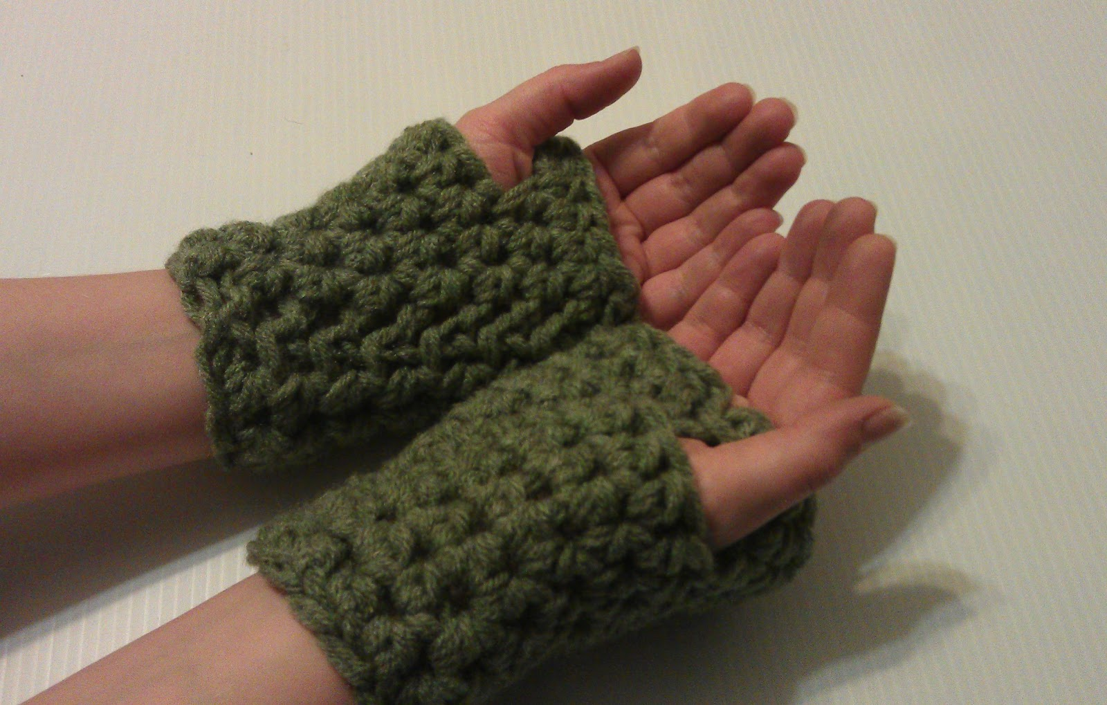 Free Crochet Pattern For Chunky Mittens : ?Shorties? Chunky Fingerless Gloves: Free Crochet Pattern ...