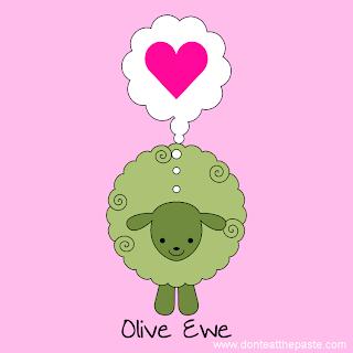 Olive Ewe Valentine