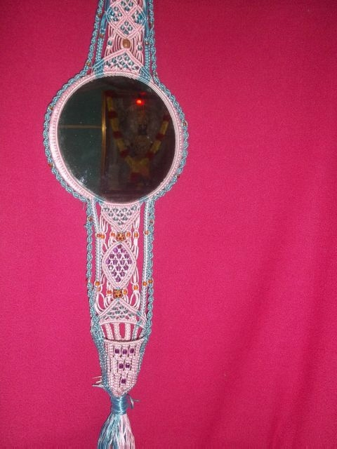 Meghna 39 s creation mirror holder for Mirror holders