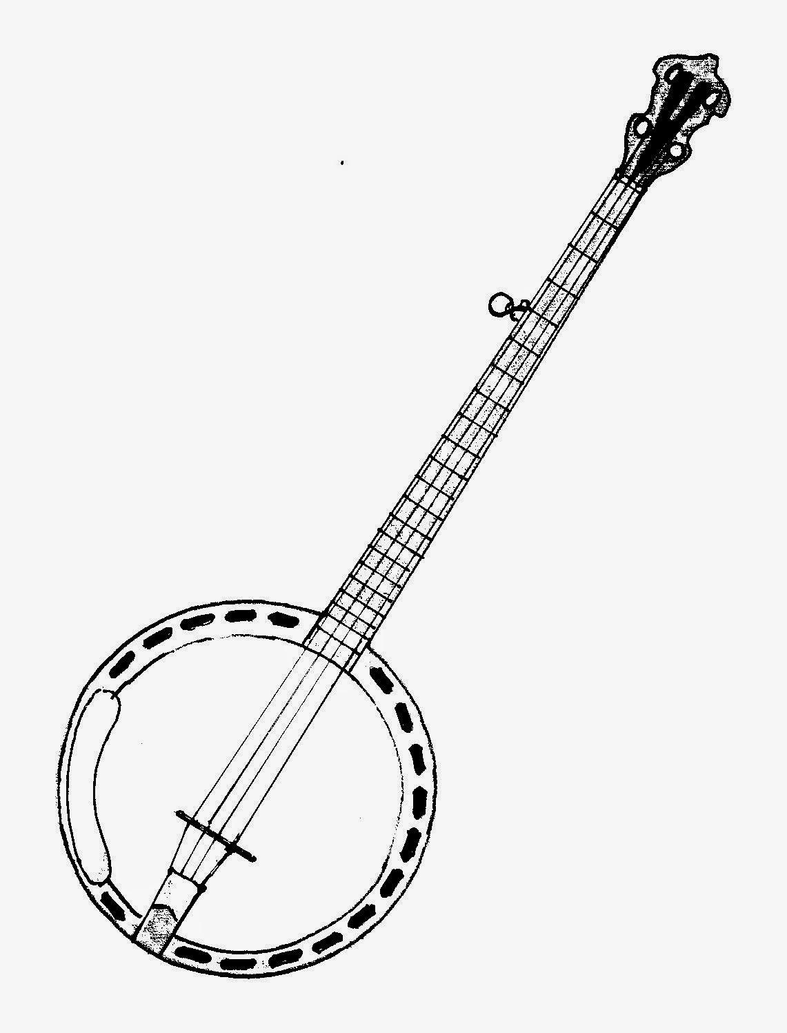Famoso Instrumento De Cuerda Para Colorear Foto - Dibujos Para ...