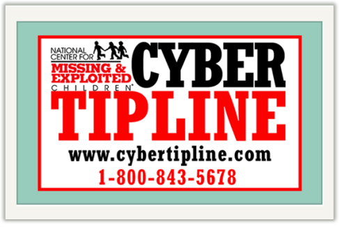 NCMEC and cyber tipline logo