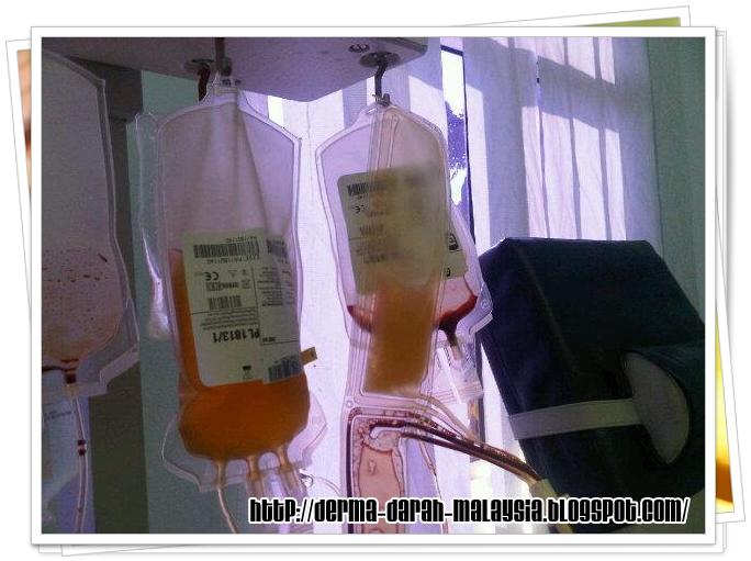 darah merah pesakit yang kehilangan darah semasa pembedahan dan