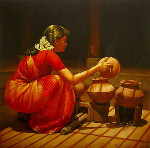 Paintings of Dravidian Women4