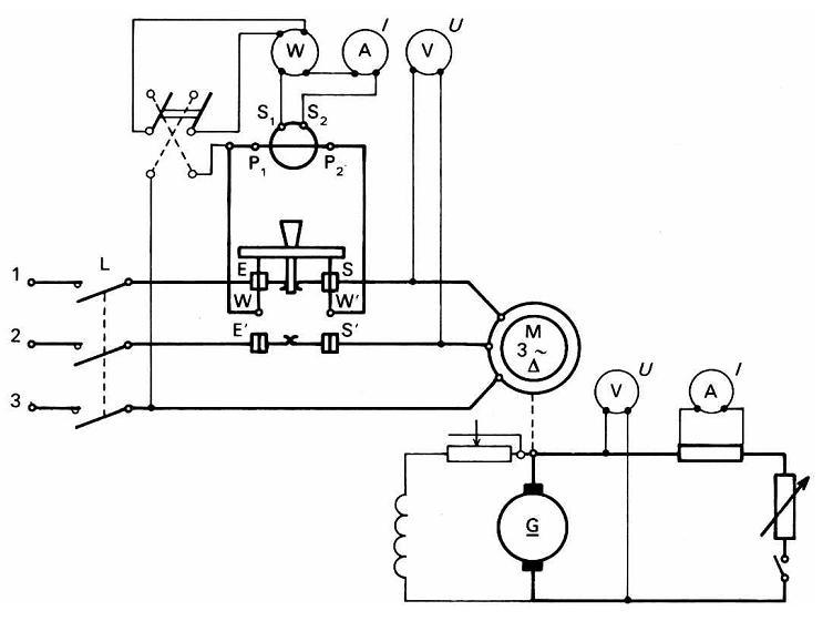 sch u00e9mas  u00e9lectriques et  u00e9lectroniques  essais d u2019un moteur asynchrone triphas u00e9  u00e0 cage