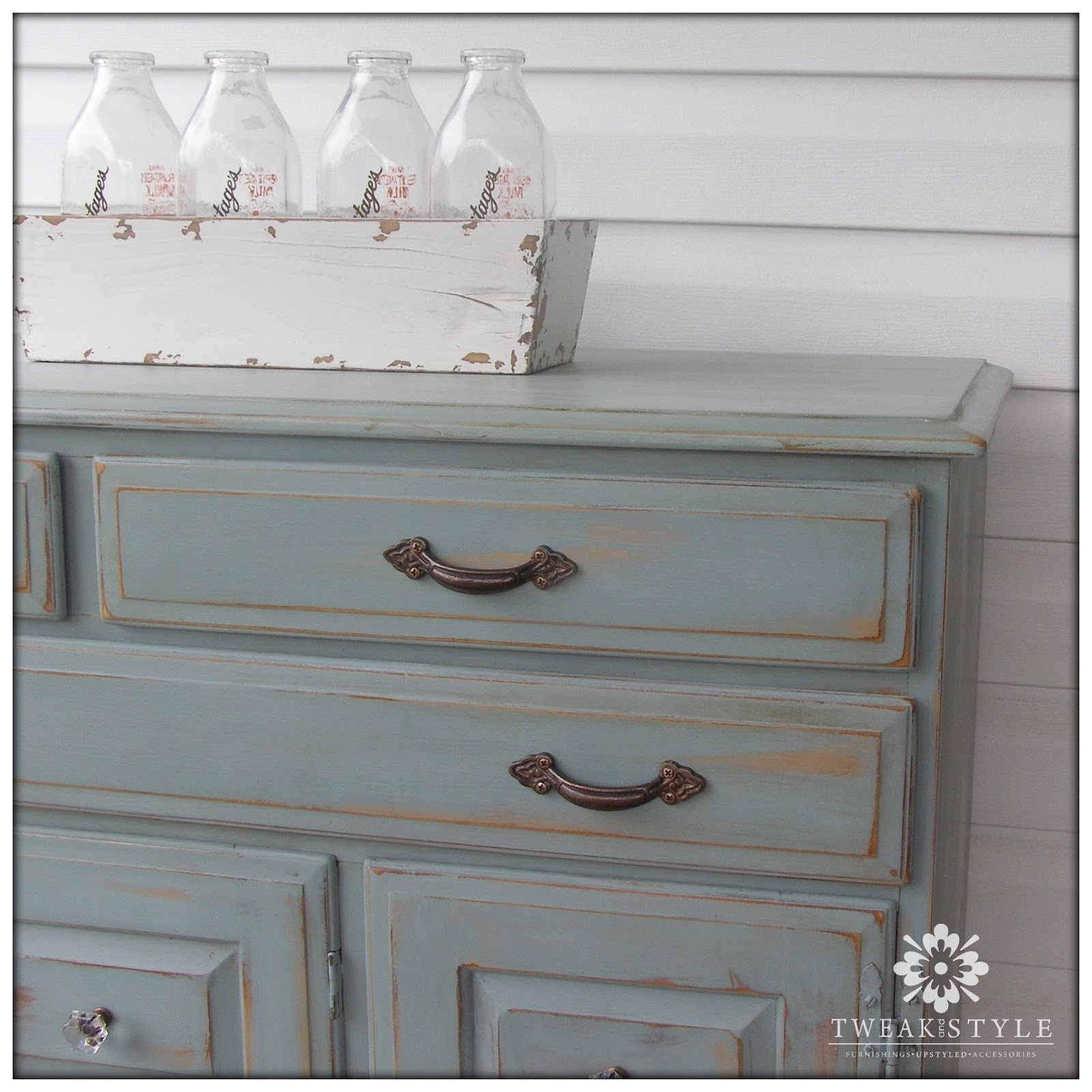 Tweak style blog two toned glam distressing with duck for How to paint furniture distressed