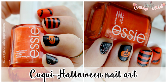 Halloween, make up, nail art