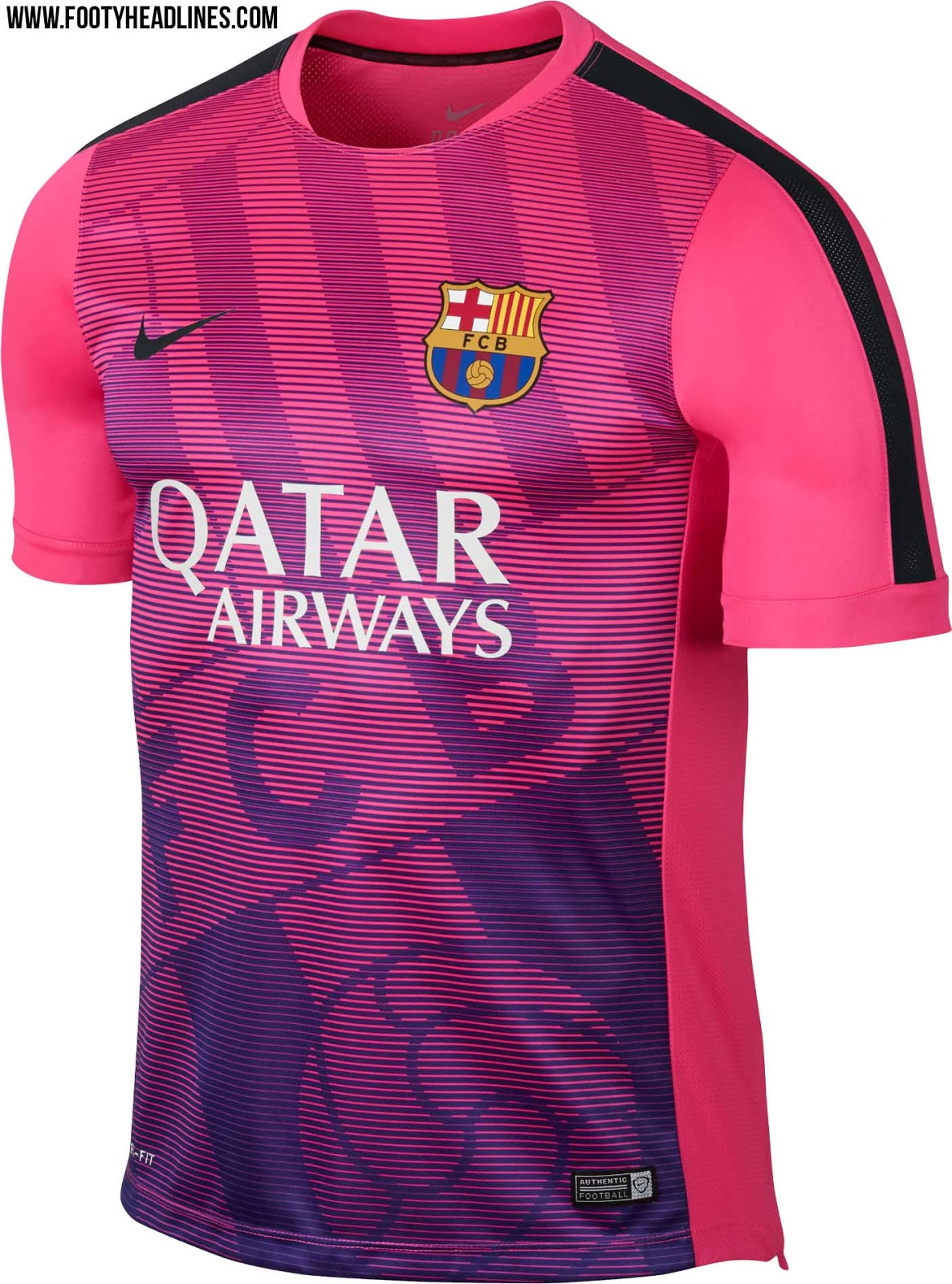 New FC Barcelona 2015 Training and Pre-Match Shirts