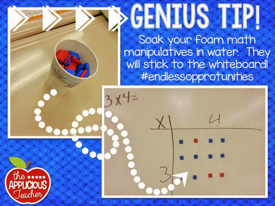 tip for math manipulatives