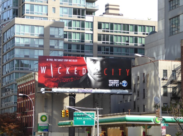 Wicked City series premiere billboard NYC