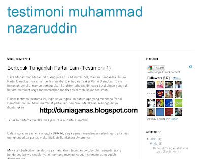 Testimoni Muhammad Nazaruddin