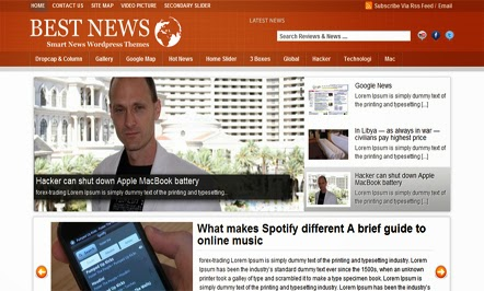 Best News Blogger Template