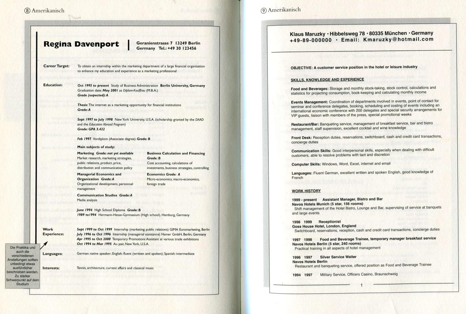 Charmant Lebenslauf Für Concierge Hotel Bilder - Beispiel Business ...