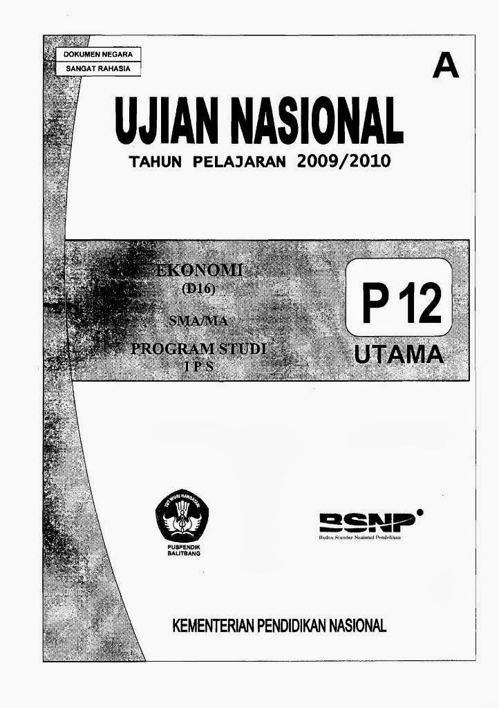 Berbagi Dan Belajar Naskah Soal Un Ekonomi Sma 2010 Paket 12