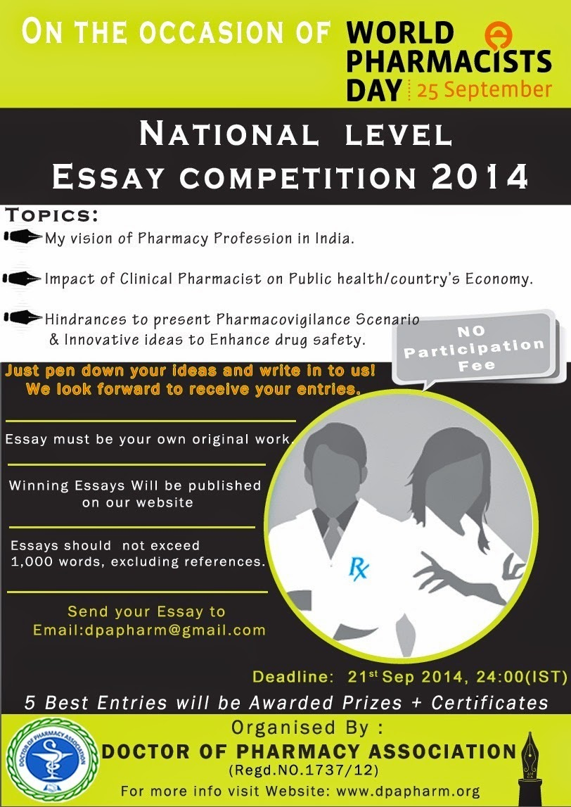 dpa organises national level essay competition on the occasion of dpa organises national level essay competition on the occasion of world pharmacists day