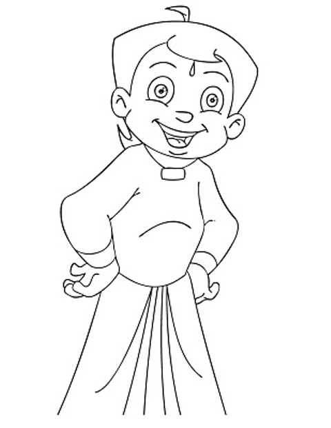 chota bheem team coloring pages - photo#33