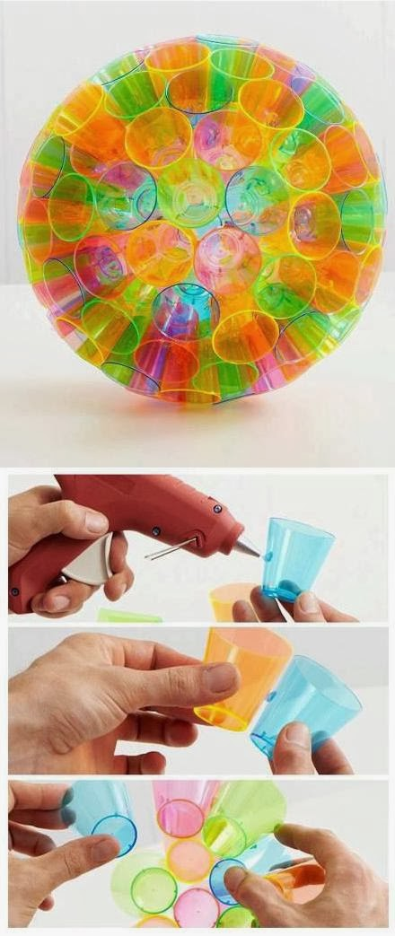 Pro DIY Tips: Make a Colorful Lampshade By Plastic Cups