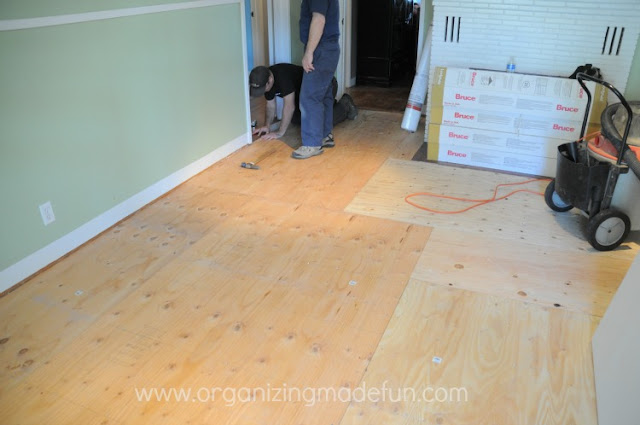 plywood hardwood flooring installing