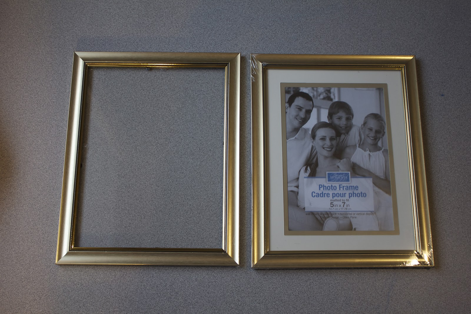 the frames from dollar tree we used the one of left is ready to go