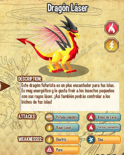imagen del dragon laser y sus caracteristicas
