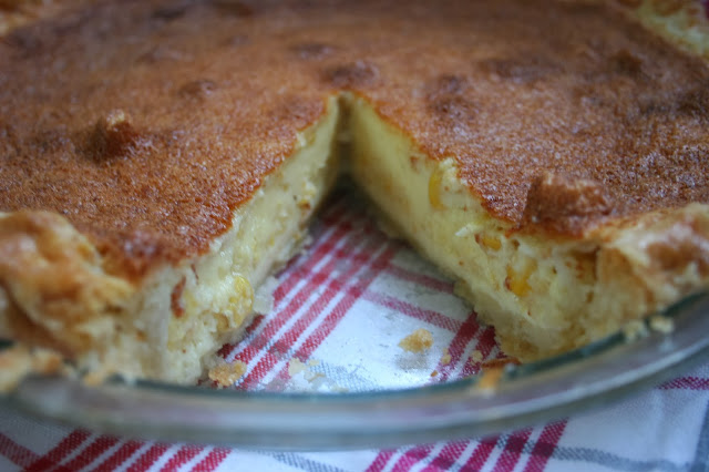 Sweet Corn Custard Pie, Cross Section