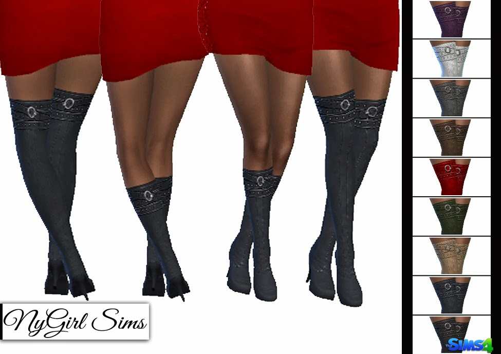 nygirl sims 4 belt wrapped boot above and below knee