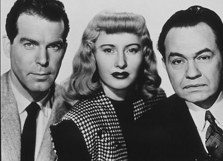 MacMurray Stanwyck Robinson Double Indemnity 1944 movieloversreviews.blogspot.com