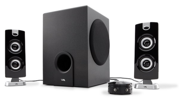 Cyber Acoustics Subwoofer Satellite System (CA-3602).