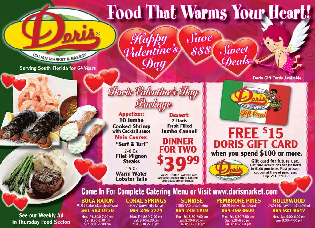 Valentineu0027s Day Specials That Youu0027ll Fall In Love With!