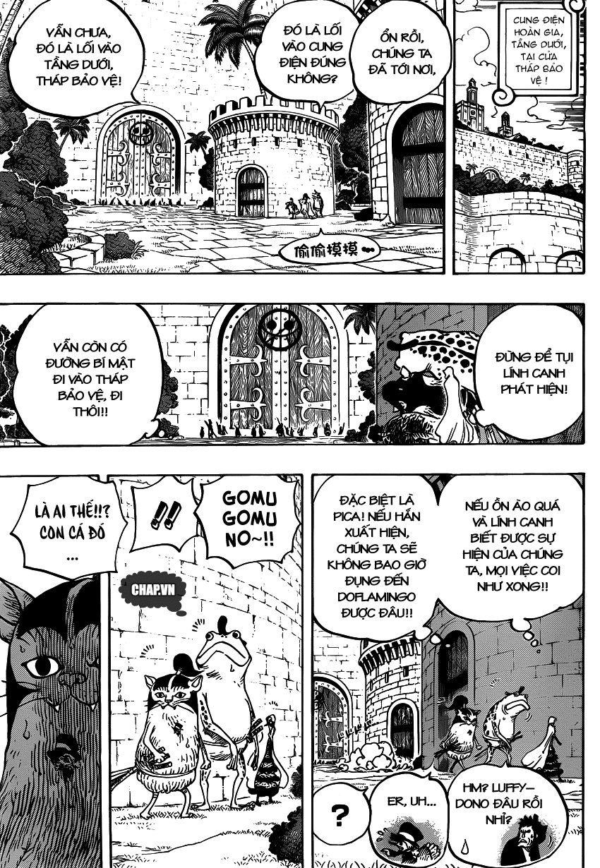 One Piece Chapter 736: Chỉ huy cấp cao: Diamante 010
