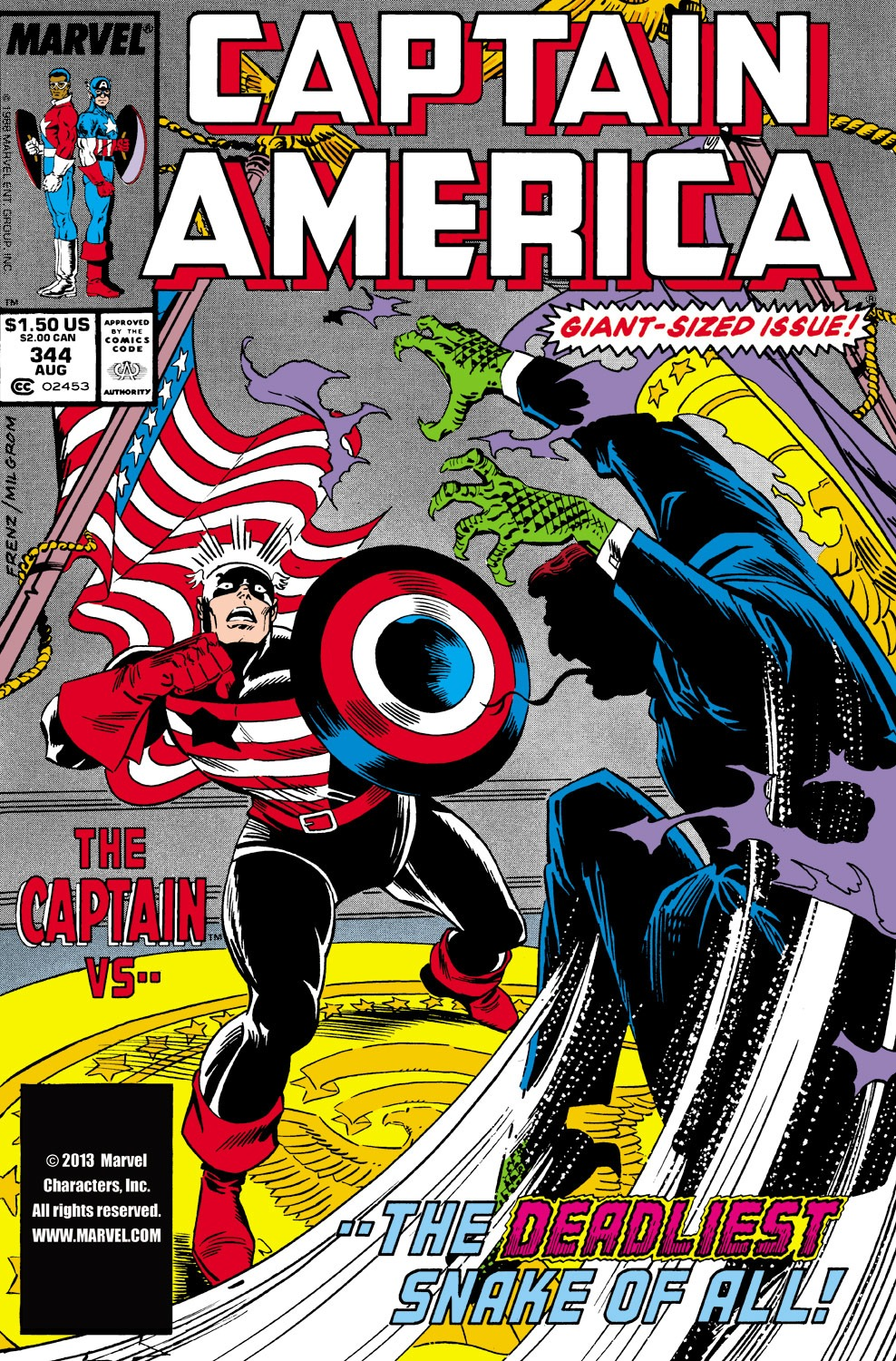 Captain America (1968) Issue #344 #274 - English 1