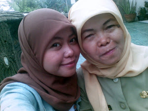 With my mom & I
