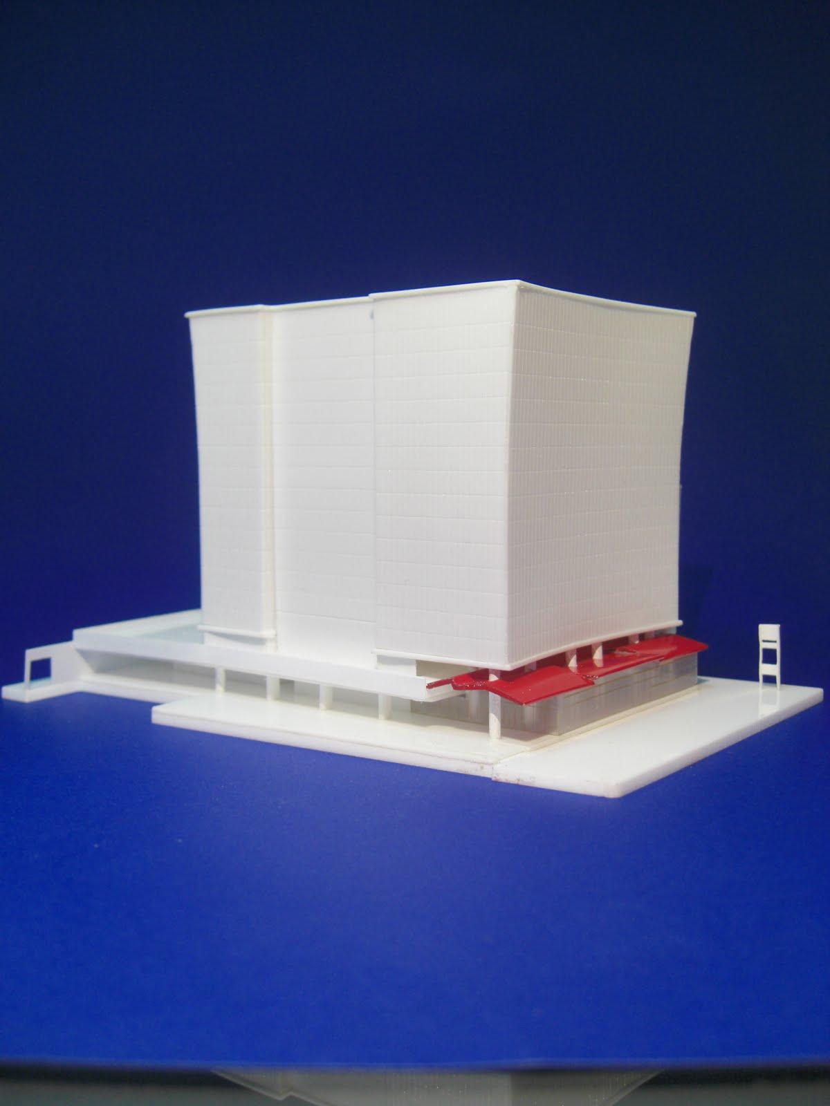 Centro Empresarial Toyota. Maqueta de estudio