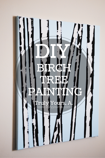 See how I created this gorgeous birch tree painting with only 4 items!