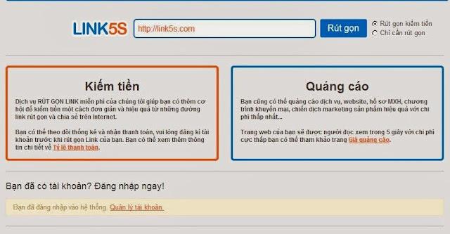 Rút ngắn link và chia sẻ để kiếm tiền dễ dàng cùng link5s
