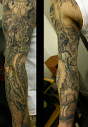 Source of Gods, Godesses, Serphants, Valkyries and Vikings Sleeve Tattoo
