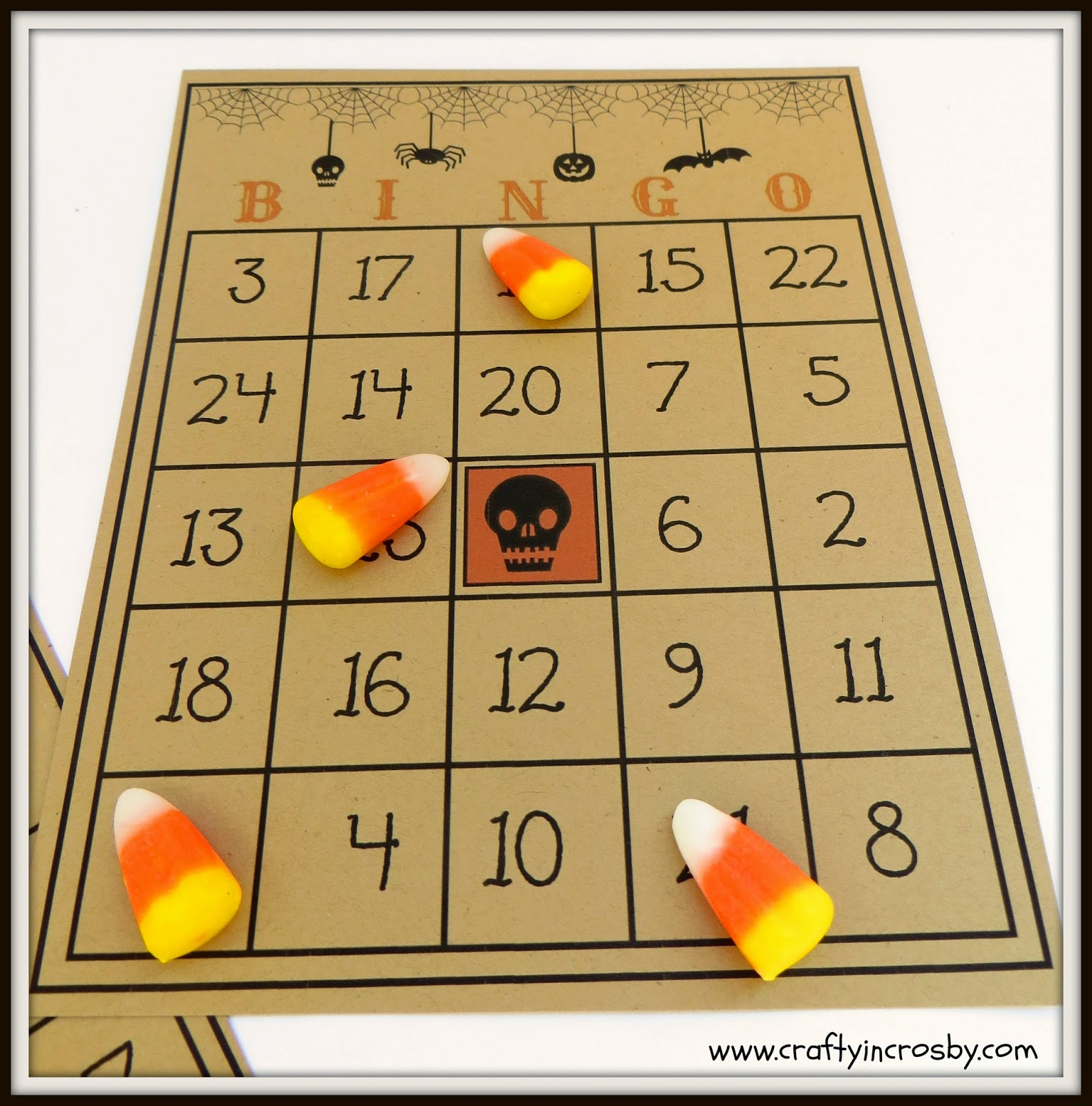 Halloween Party games, Vintage Bingo, candy corn, fall carnival games