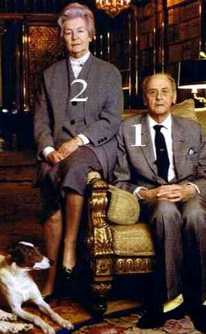 Andrew et Deborah, duc et duchesse de Devonshire