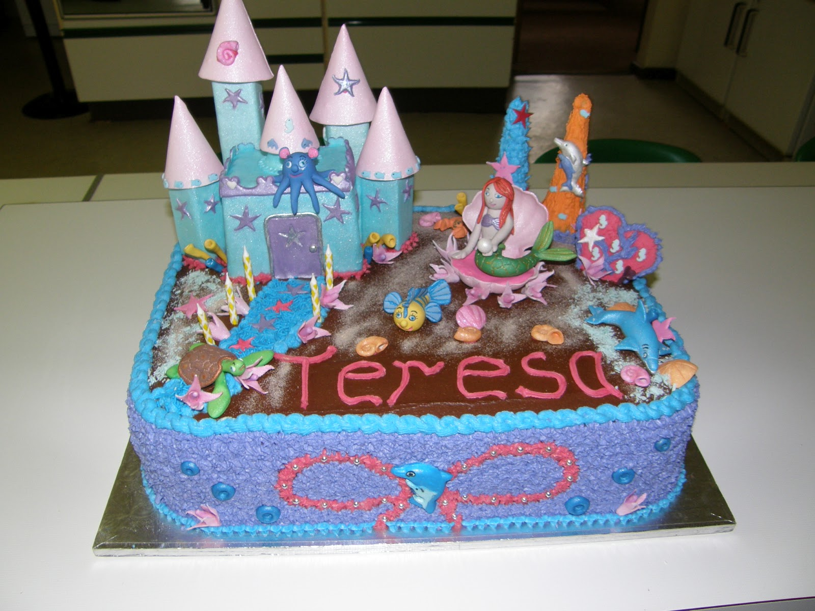Its My Party Little Mermaid Birthday Cake