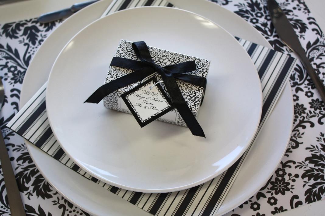 Table Decorations Black And White Theme Black And White Wedding